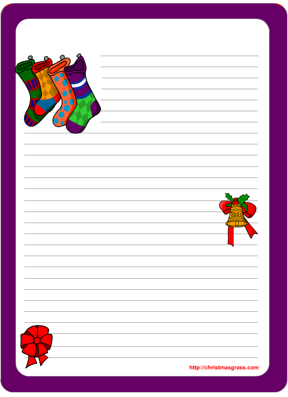 Christmas stationery printables for Printable christmas stationary