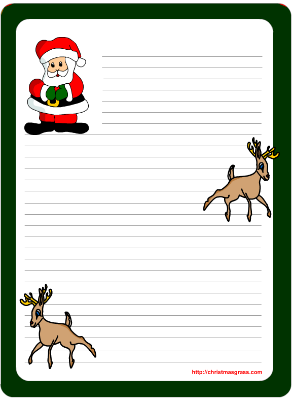 index of christmas stationary for kids - Free Printable Christmas Stationary