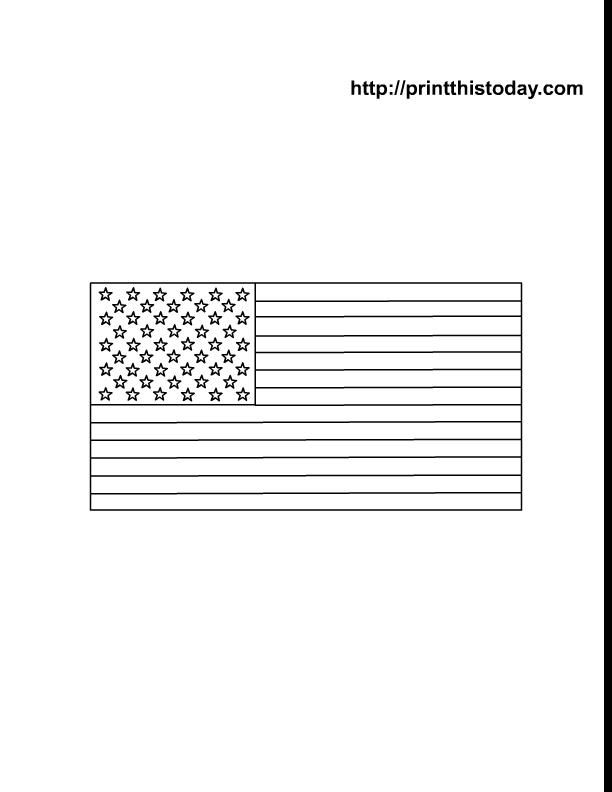 american flag outline