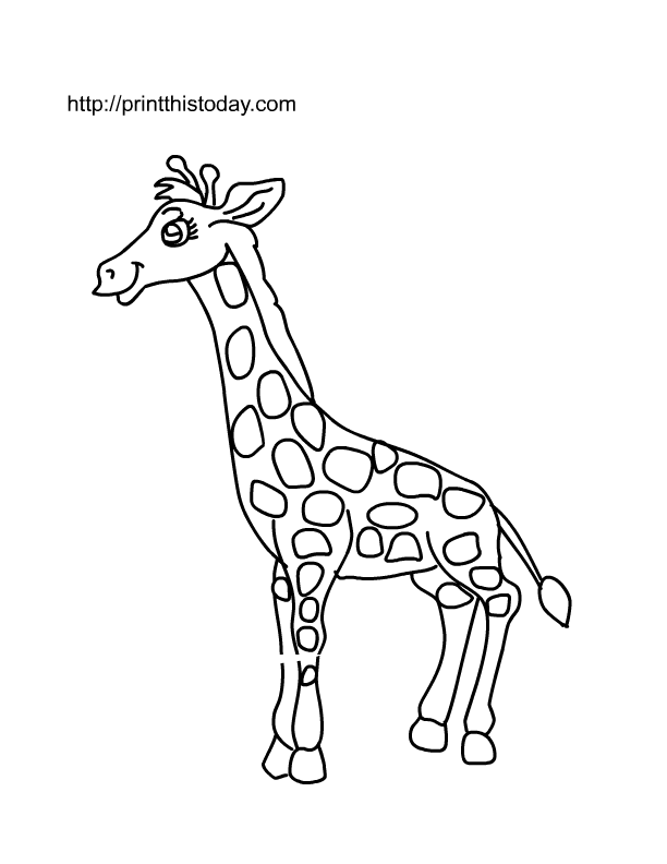 cute giraffe coloring pages - free coloring pages of animals template