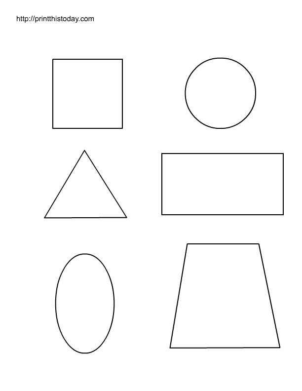 Free printable worksheets with basic shapes for preschool kids