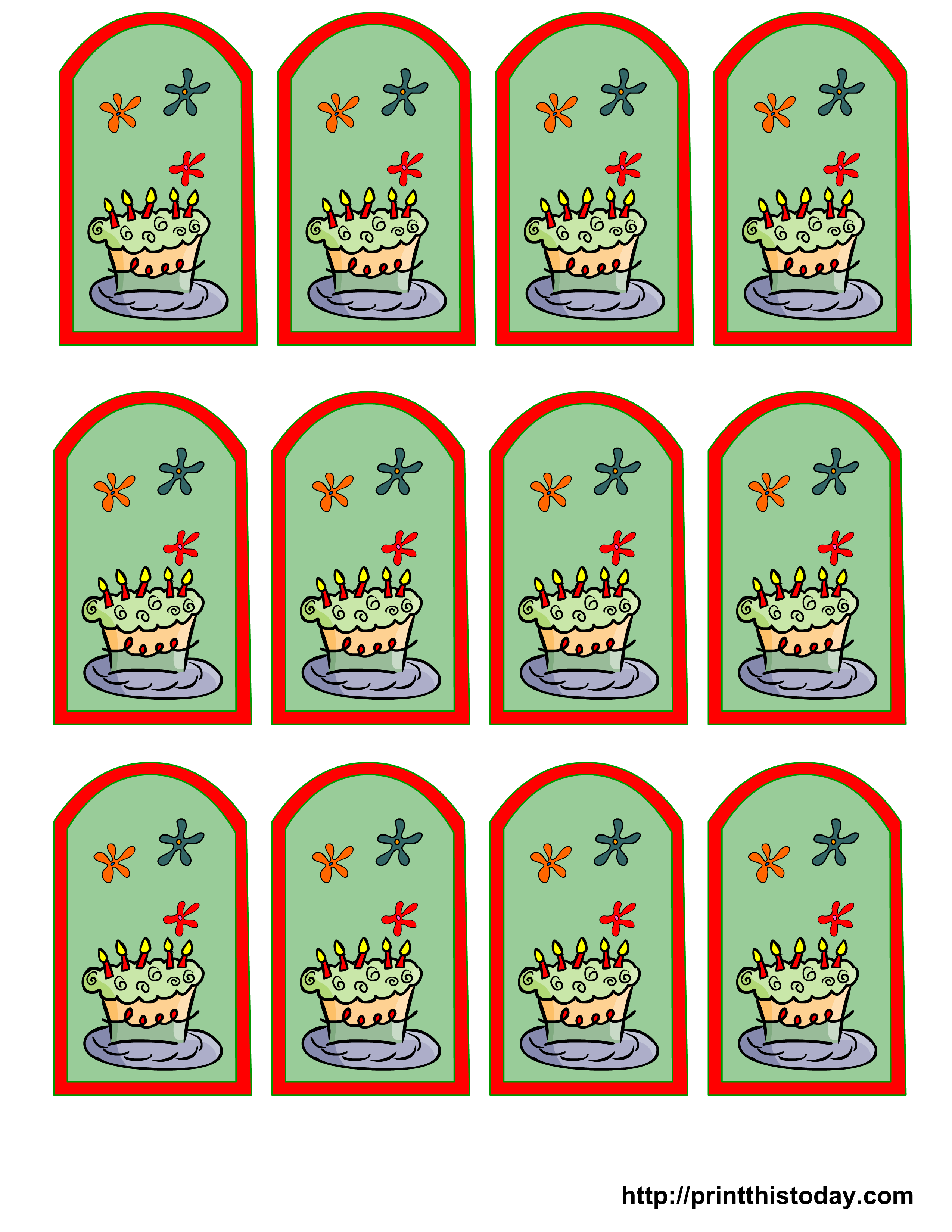 Decisive image for printable party favor tags