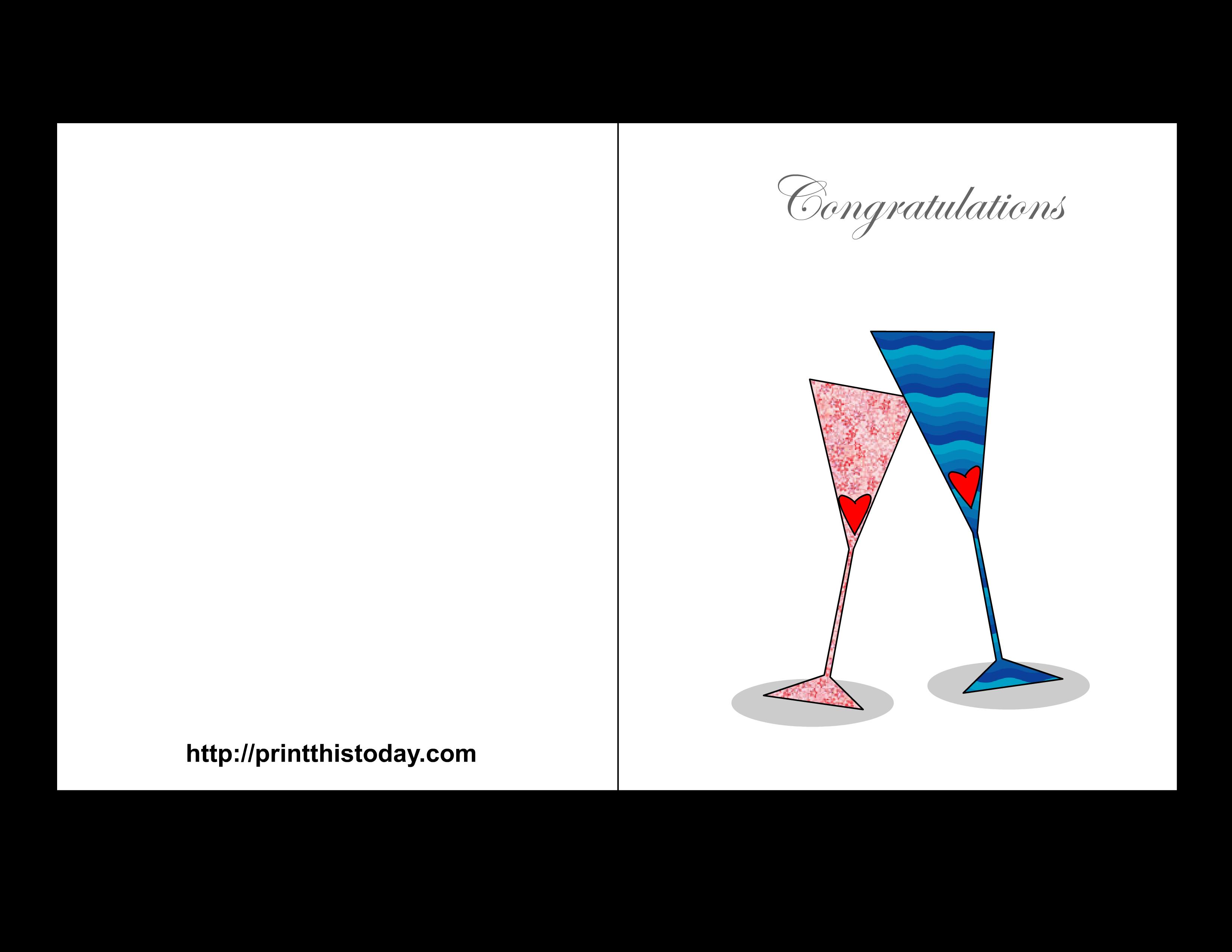 Free Printable Wedding Congratulations Cards: printthistoday.com/free-printable-wedding-congratulations-cards
