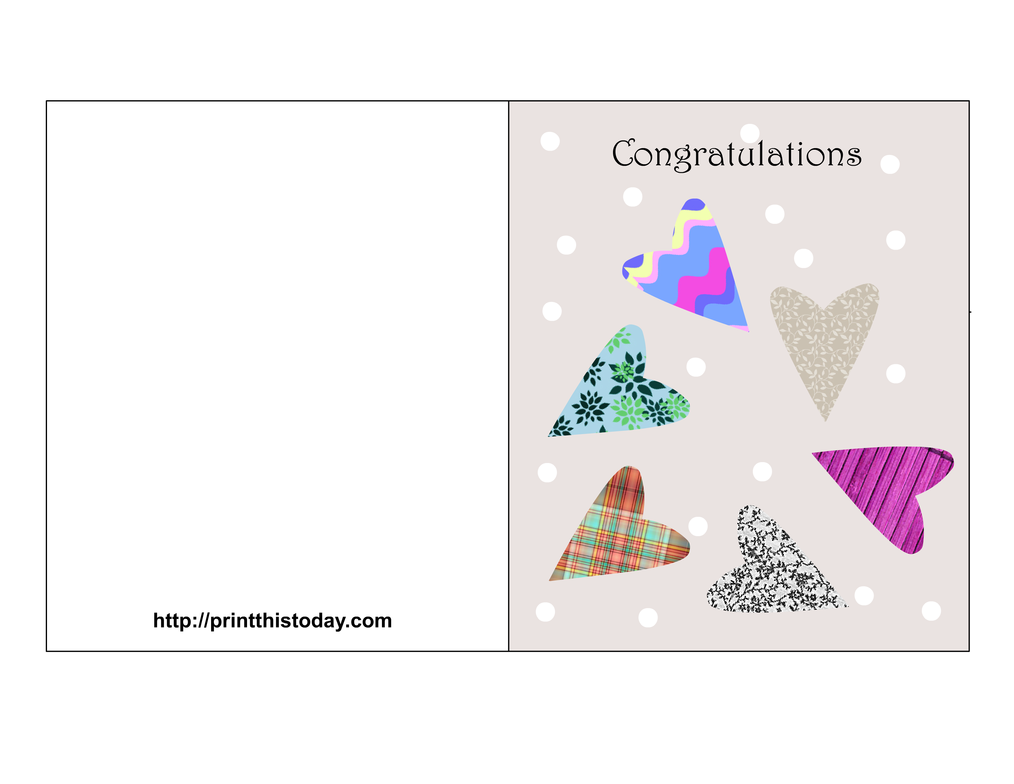Free printable wishes on getting married cards: printthistoday.com/free-printable-wedding-congratulations-cards