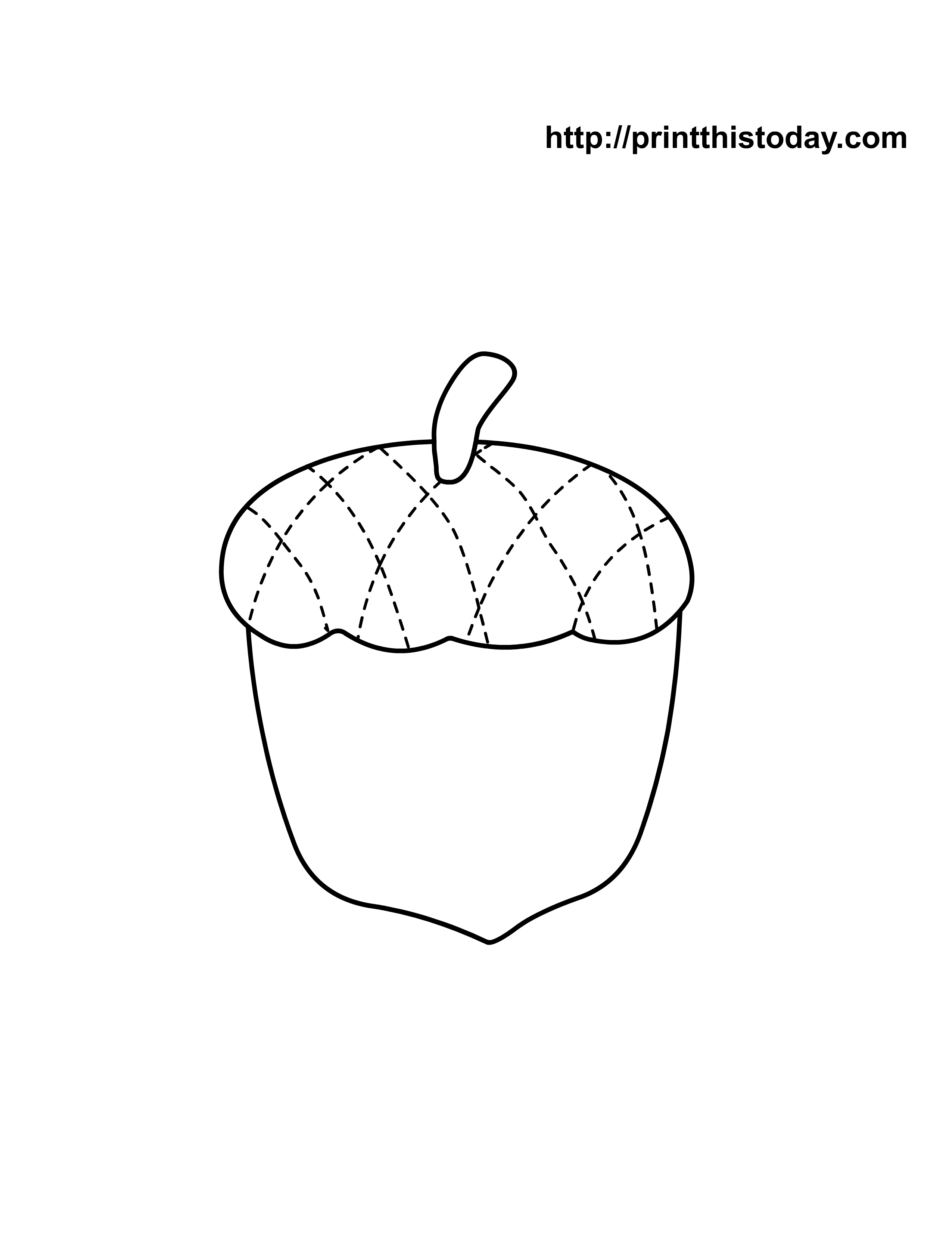 Free printable autumn fall coloring pages for Acorn coloring page