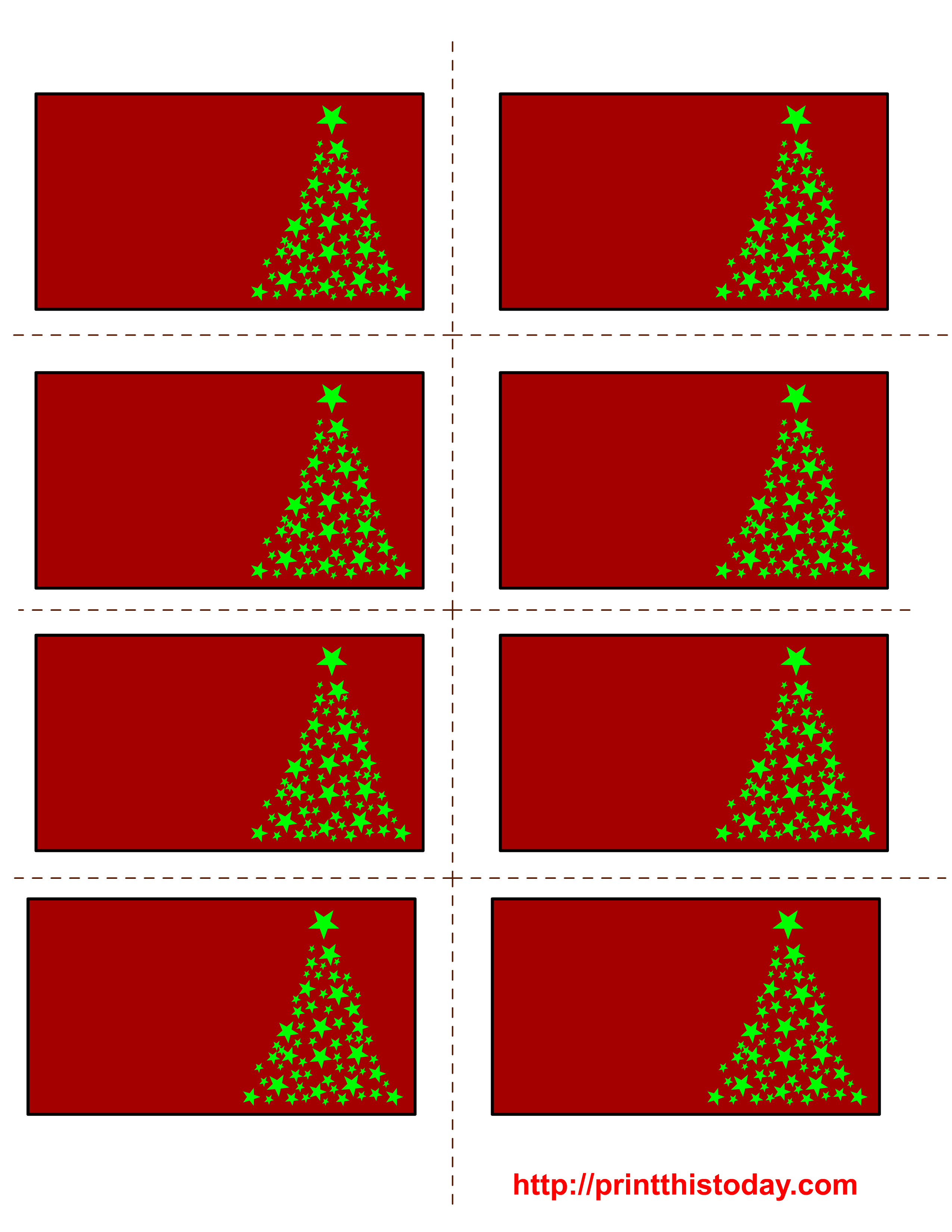 Free printable christmas labels with trees for Free online label templates