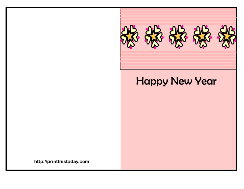 Breathtaking image with printable new years cards