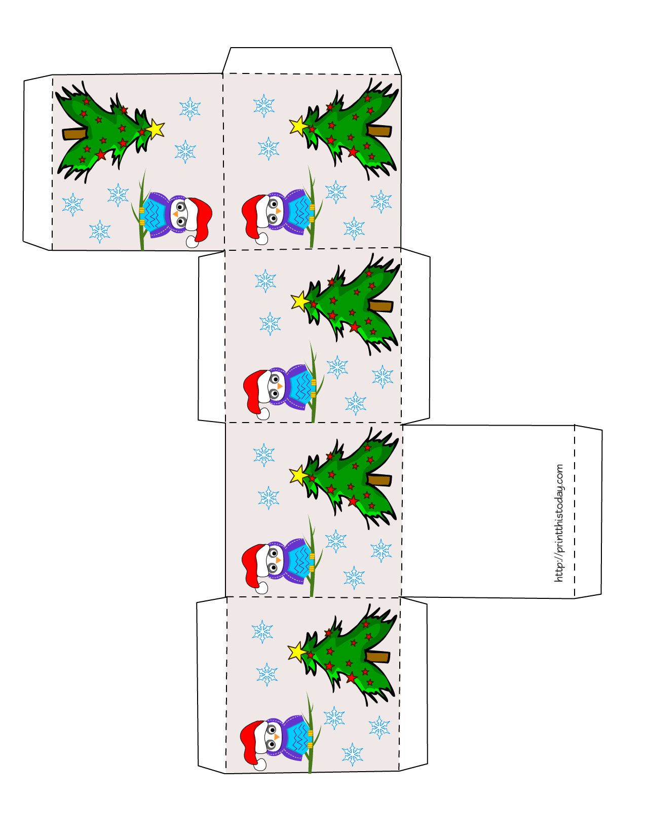 free printable christmas box templates