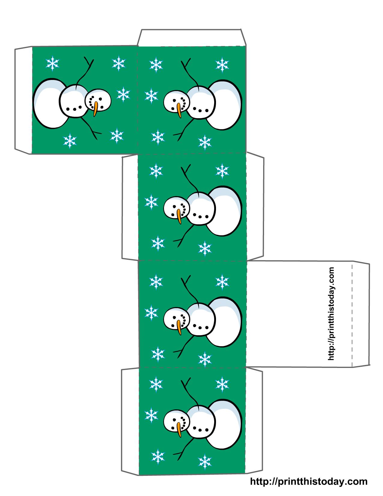 christmas gift box template - photo #12