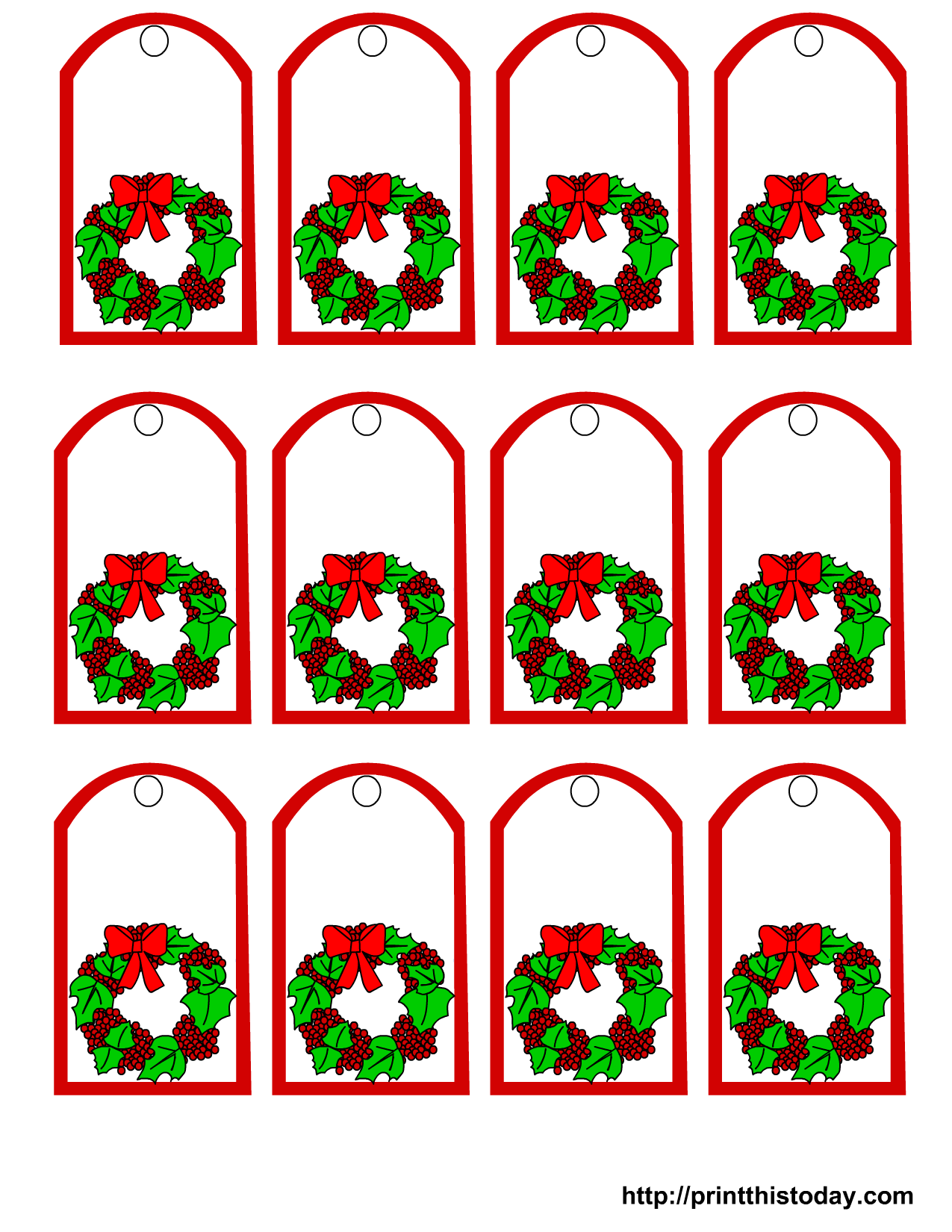 ... png 260kB, This set of Christmas labels shows a mistletoe and a bow