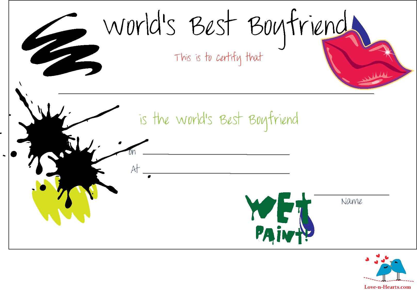 Free Printable World 39 s Best Boyfriend