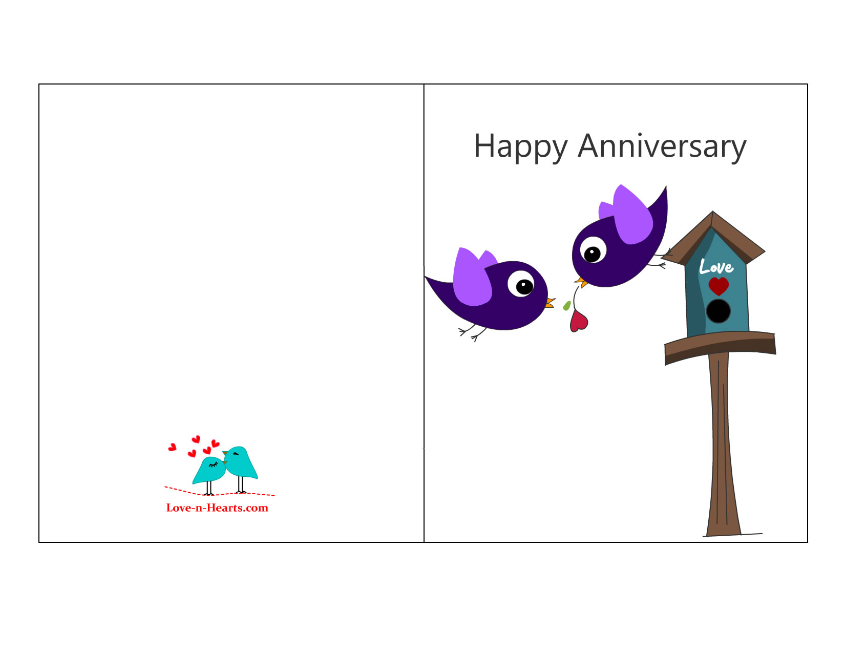 Doc16501275 Print Your Own Anniversary Card Free Printable – Free Printable Anniversary Cards